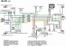 wiring diagram honda xl 125 schematics a motorcycle nut