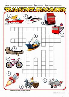 transportation worksheets esl 15184 transport crossword worksheet free esl printable worksheets made by teachers
