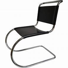 Chaise En Chrome Et Cuir Ludwig Mies Der Rohe 1950