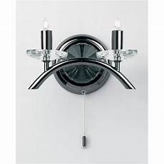 0406 2bc wall pendant in black chrome with crystal sconces wall lights from mail order lighting uk
