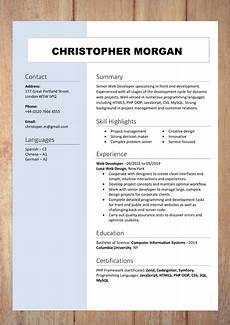 cv resume templates exles doc word download