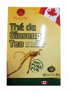 new uncle bill ginseng herbal tea 20 tea bags sachets 100