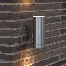 nordlux tin maxi double led outdoor wall light aluminium