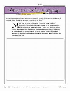 spelling error correction worksheets 22343 editing and proofing a paragraph teaching writing writing practice middle school books