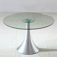 table ronde en verre table verre ronde pied central