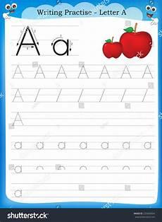 writing practice letter printable worksheet preschool stock vector 233500924
