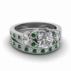 white gold white diamond engagement wedding ring