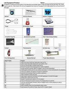 worksheet lab equipment st physical science