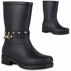 gummistiefel schwarz damen damen stiefel in schwarz 819662 3401 stiefelparadies de