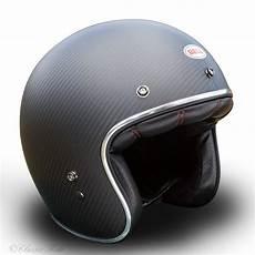 casque jet bell casque bell custom 500 carbon solid black jet moto vintage