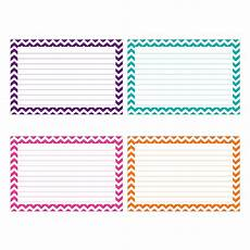 4x6 index card template free border index cards 3 x 5 lined chevron by top notch