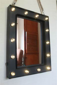 wall light up mirror 14 bulb led light up wall mirror make up mirror girls room mirror hanging rope ebay