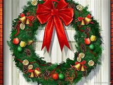 christmas wreath background hd slide backgrounds
