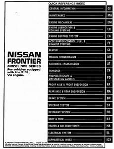 manual repair autos 1999 nissan frontier parking system nissan frontier model d22 series 1999 vg33e service manual clutch pdf download