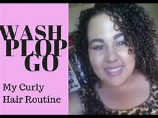my curly hair routine wash plop and go 3b 3c youtube