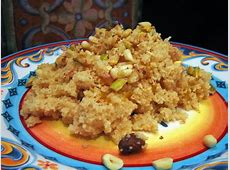 dessert couscous with nuts_image