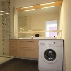 encastrer un lave linge miroir eclairant pour salle de bain atlantic bain
