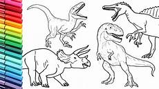 drawing and coloring dinosaur collection 2 how to draw