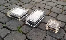 glass solar bricks with led lights