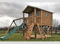 Super Sized Deluxe Tree house swings 10ft slide picnic