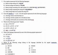 regex find decimal number in string solved 1 give regular expressions for the following lang chegg com