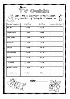 time difference worksheets 2972 tv guide handout find the time difference by mpriest teaching resources tes