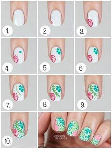 cool easy nail art designs for short nails step by step