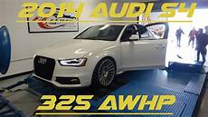 b8 5 audi s4 dyno pulls apr stage 2 armytrix 325 awhp youtube
