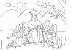 jesus segnet kinder ausmalen bibelgeschichten basteln