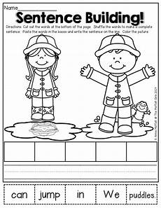 sentence building worksheets cut and paste 21045 166 best images about sentence structure activities on prepositional phrases