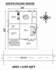 south facing vastu house plans 30 x40 1bhk south facing house plan as per vastu shastra