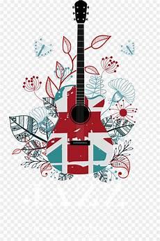 Gambar Lukisan Di Gitar Gambar Gitar