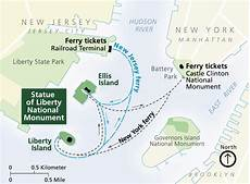 wo ist die taille maps statue of liberty national monument u s national