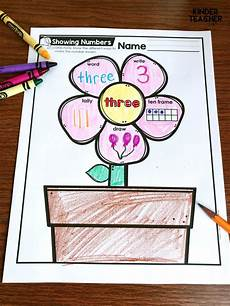 representing numbers different ways printables freebie a kinderteacher life