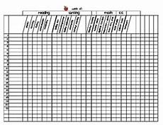 first grade grading sheet master template by christine