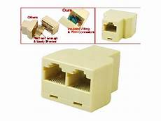 t splitter plug for rj45 1 to 2 cable coupler