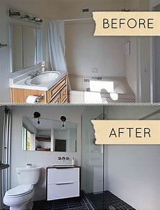 before after a humdrum bathroom gets a modern makeover design sponge