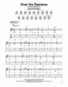 over the rainbow sheet music by e y quot yip quot harburg easy guitar tab 151064