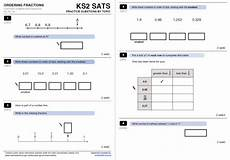 fraction worksheets ks2 sats 3992 ordering fractions and decimals worksheet with answers for ks2 maths teachwire teaching resource