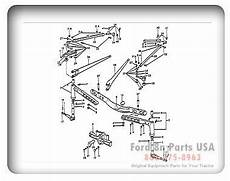 9n ford tractor brake diagram ford 8n 03a01 front axle related parts 1939 52 9n 2n 8n ford tractor ford