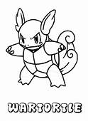 Wartortle Pokemon Coloring Page & Book For Kids