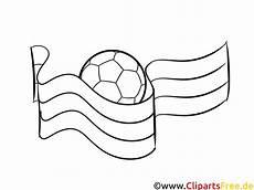 flagge und malvorlage zu fussball em und wm