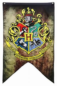 harry potter houses of hogwarts banners