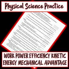 physical science worksheet work and power 13210 physical science work power energy efficiency mechanical advantage worksheet