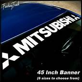 MITSUBISHI Window Banner Vinyl Decal Sticker Graphic