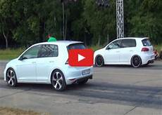 Vw Golf 7 Gti Vs Golf 6 R Drag Race Vw Golf Tuning