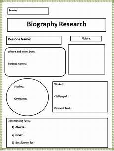 short biography research graphic organizer biography books technology lessons writing a