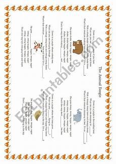 animal boogie worksheets 13809 the animal boogie esl worksheet by bernardu79