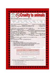 animal rights worksheets 14022 worksheet cruelty to animals