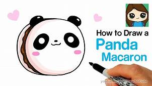 How To Draw A Panda Macaron Cute And Easy – Kids YouTube